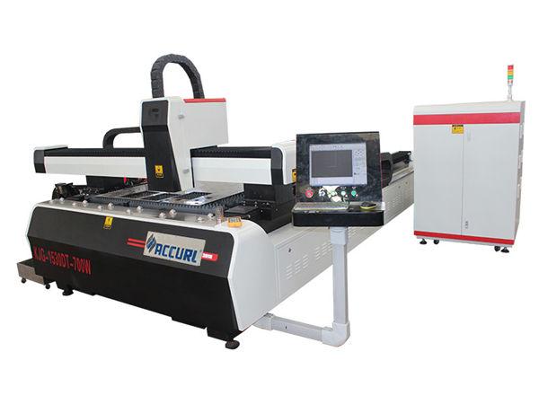 Legierung Stahlplatte CNC-Faser-Laser-Schneidemaschine Doppelantrieb hohe Effizienz